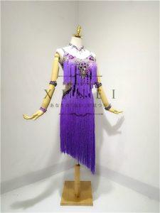 紫フリンジヒョウ柄